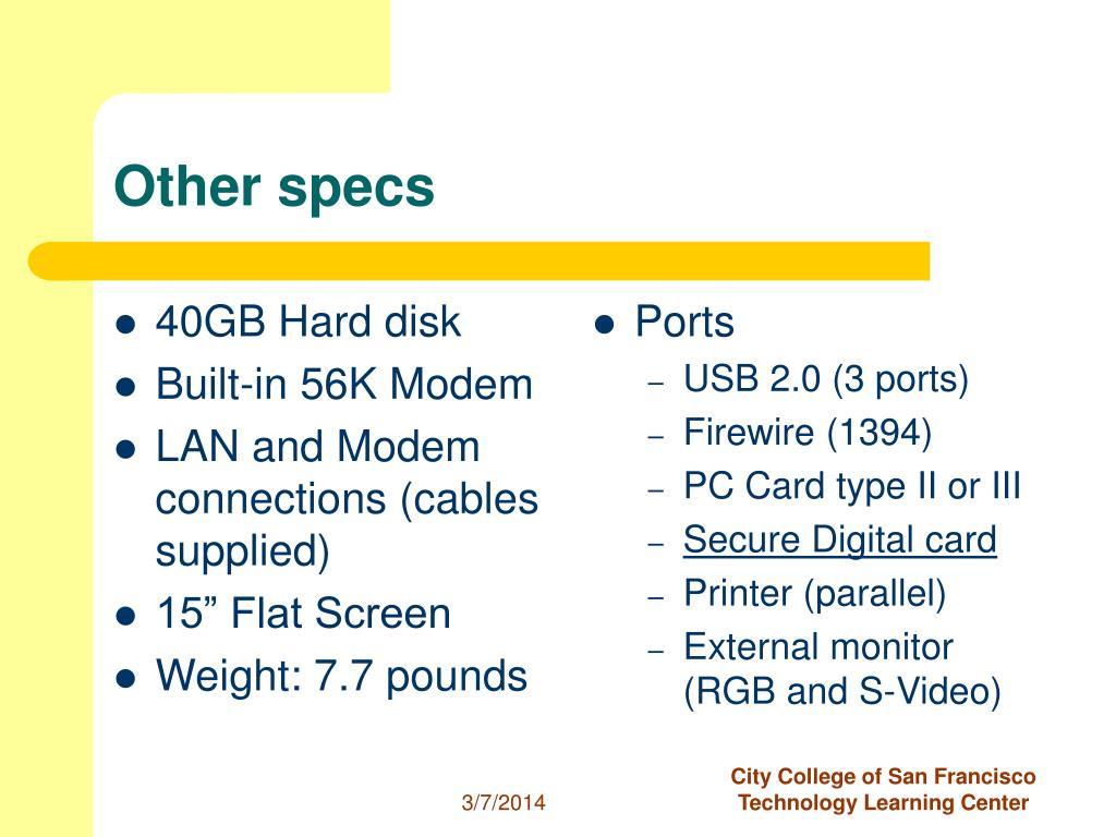 40GB Hard disk