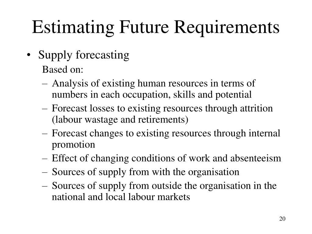 Estimating Future Requirements