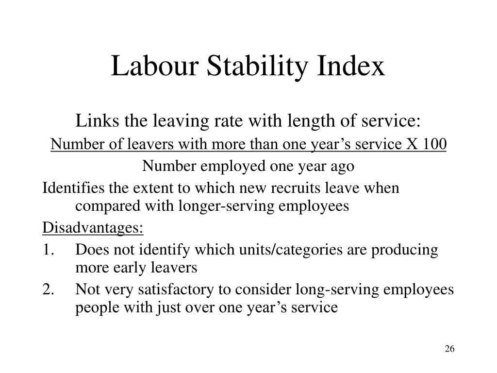 Labour Stability Index