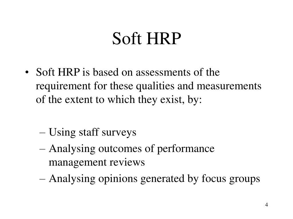 Soft HRP