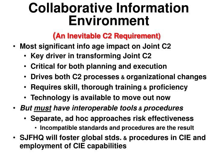 Collaborative Information Environment