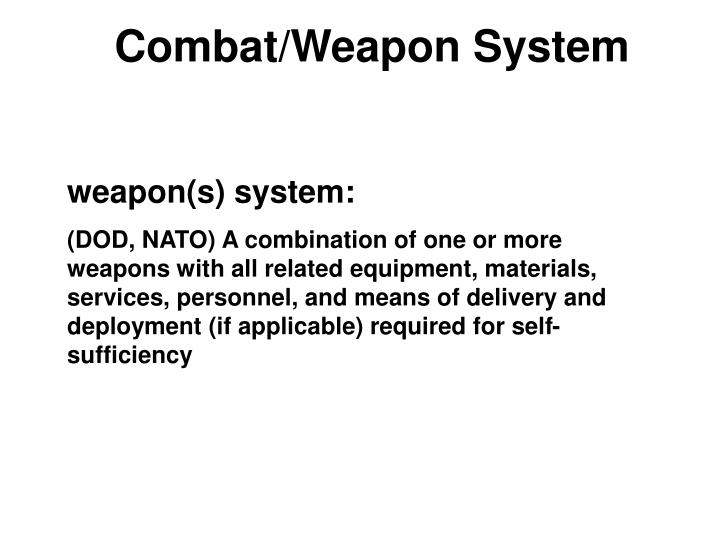 Combat/Weapon System