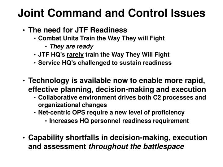 Joint Command and Control Issues
