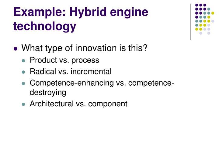 Example: Hybrid engine technology