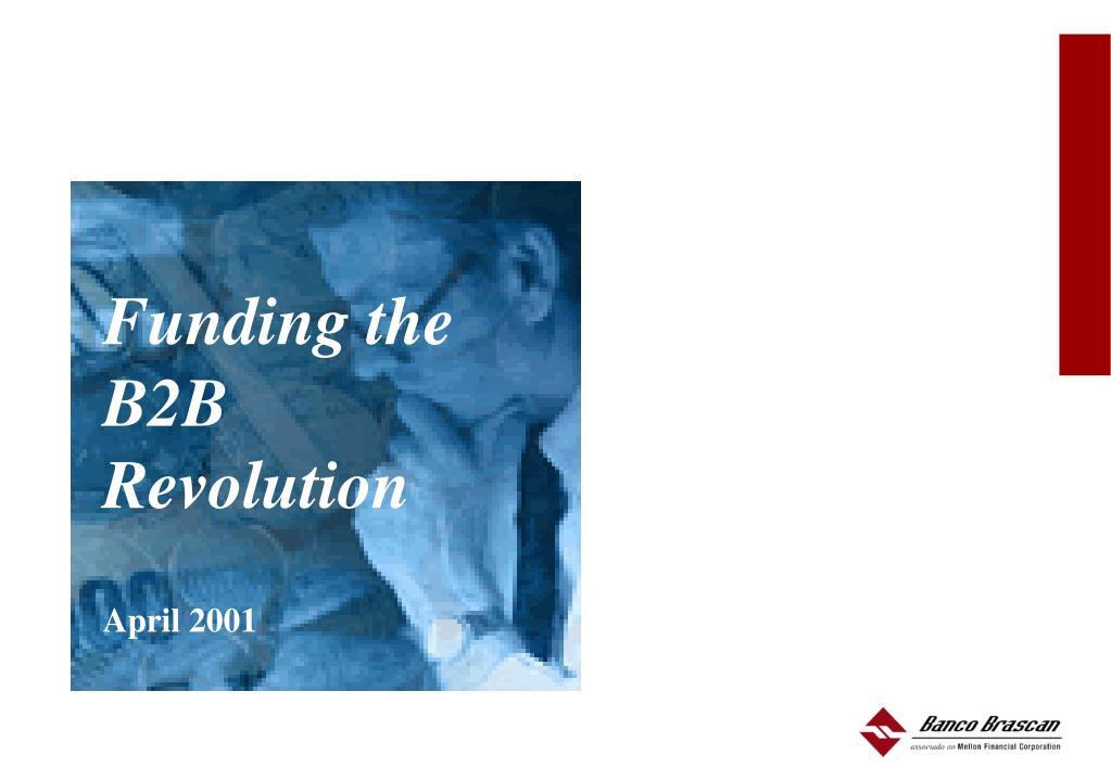 Funding the B2B Revolution