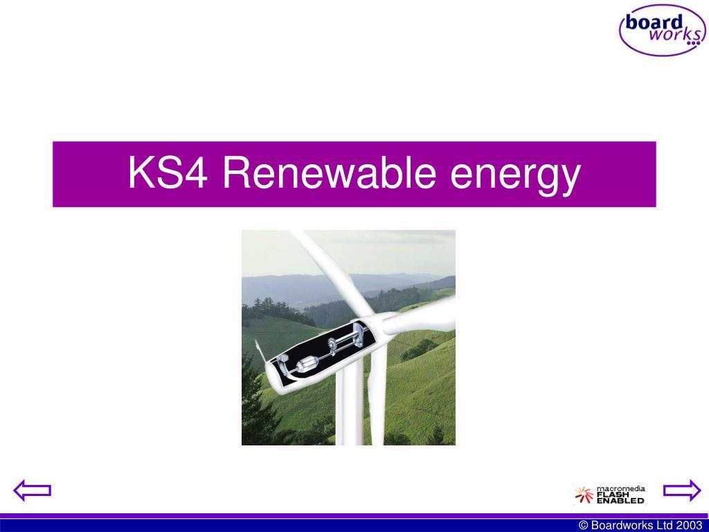KS4 Renewable energy