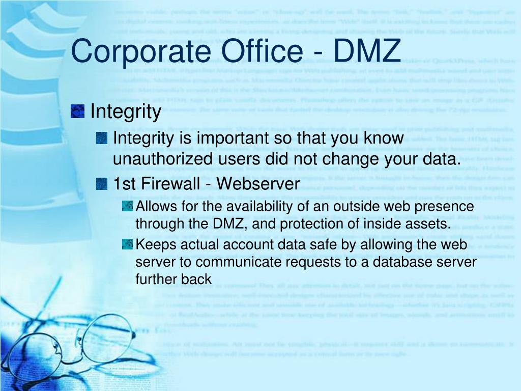 Corporate Office - DMZ