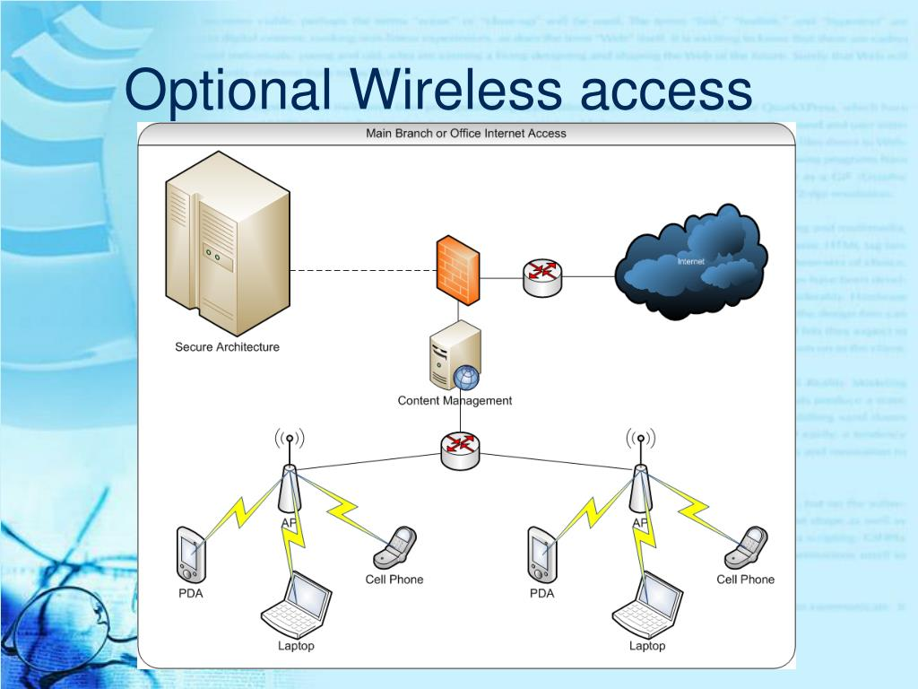 Optional Wireless access
