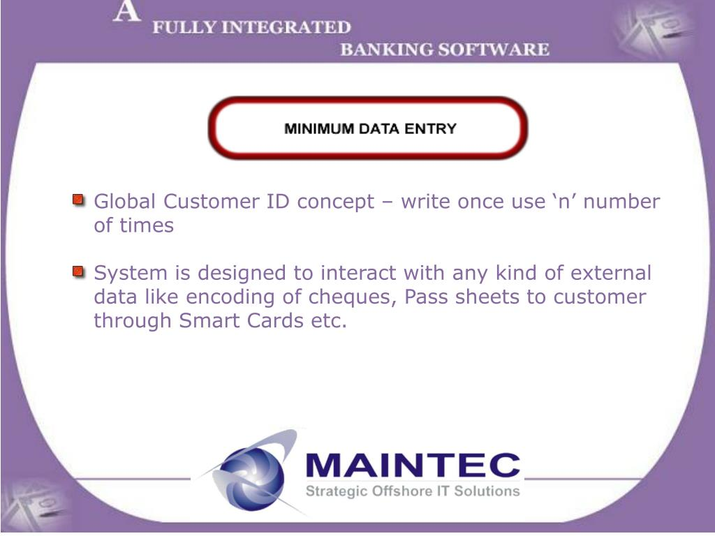 Global Customer ID concept – write once use 'n' number