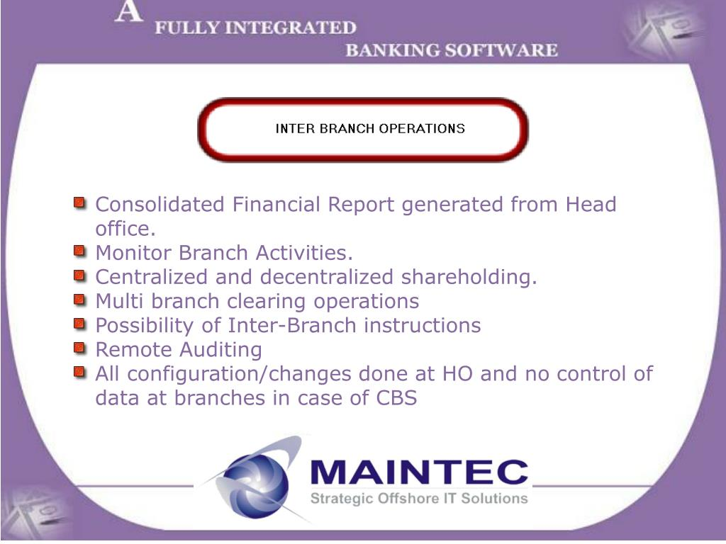 Consolidated Financial Report generated from Head