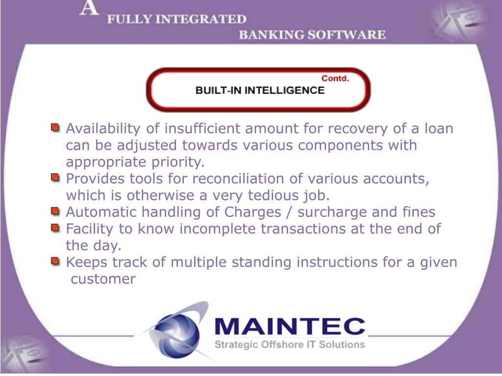 Availability of insufficient amount for recovery of a loan