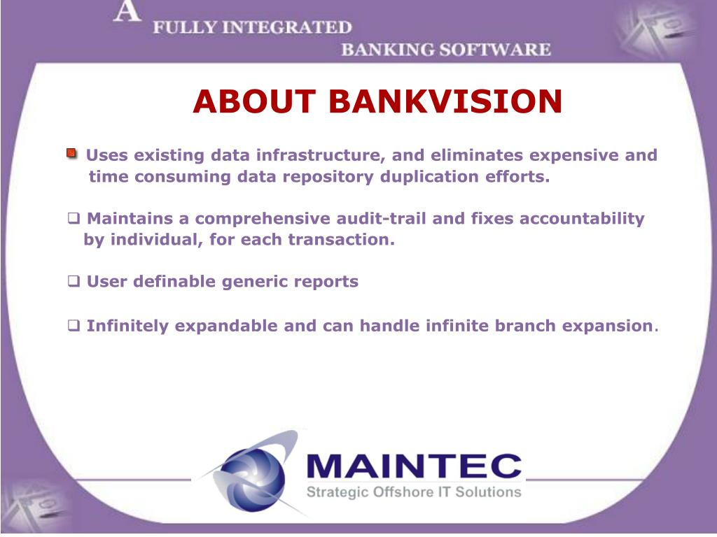 ABOUT BANKVISION