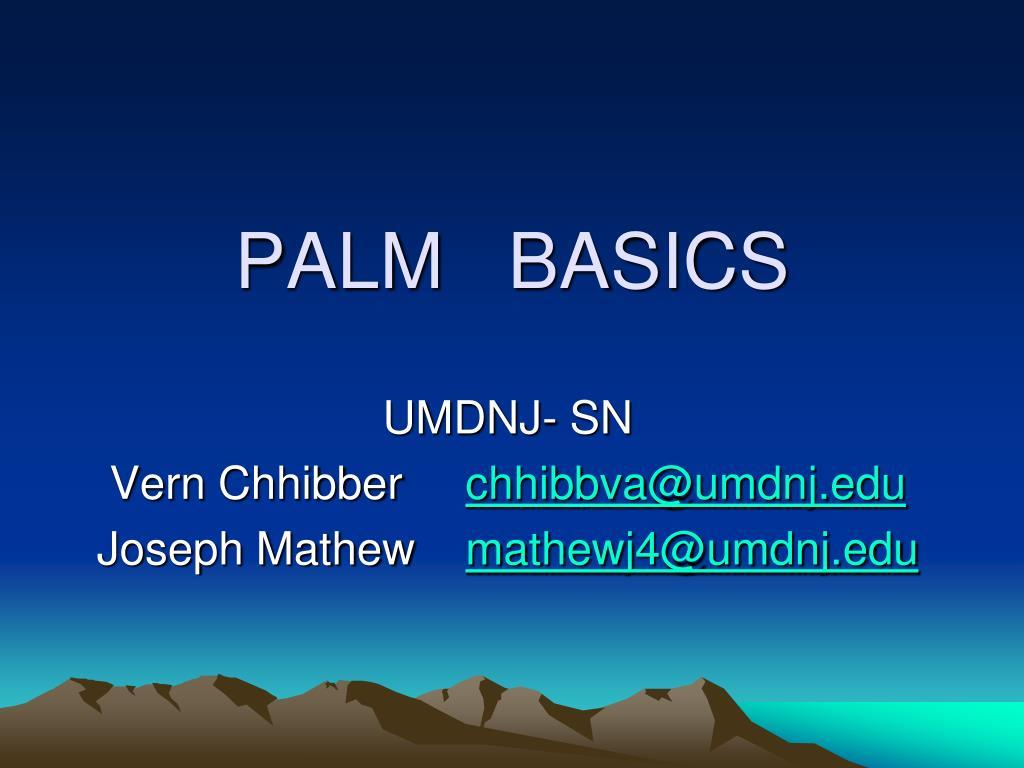 PALM   BASICS