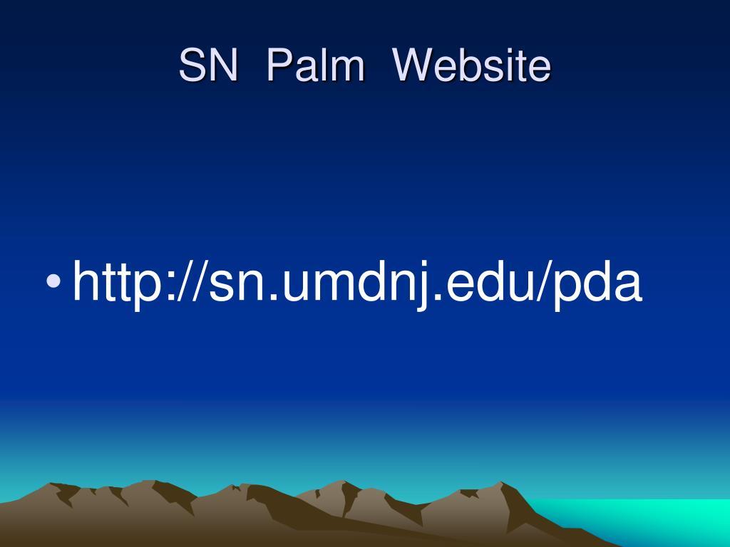 SN  Palm  Website