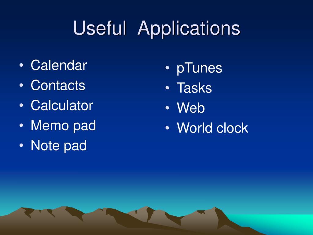 Useful  Applications