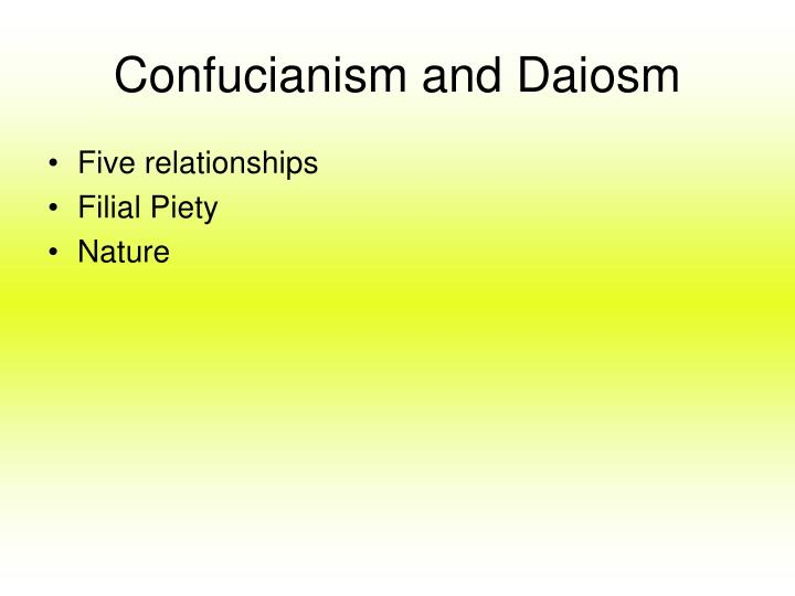 Confucianism and Daiosm