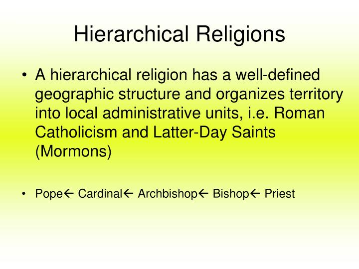 Hierarchical Religions