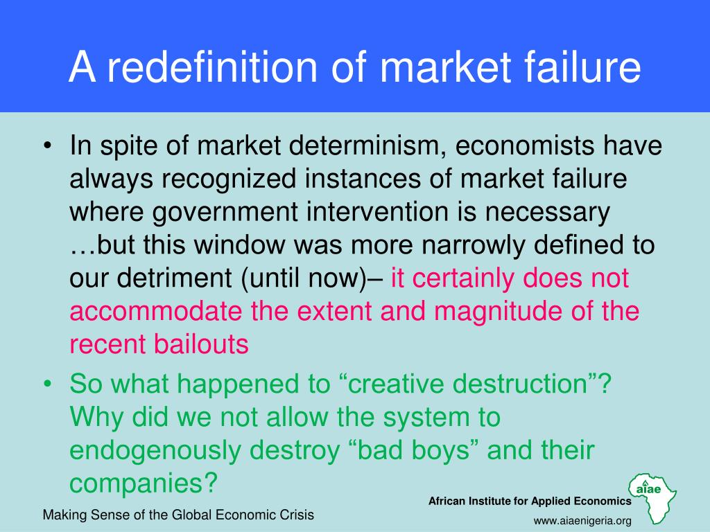 A redefinition of market failure