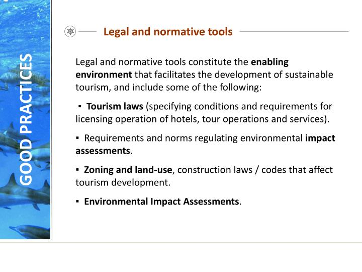 Legal and normative tools