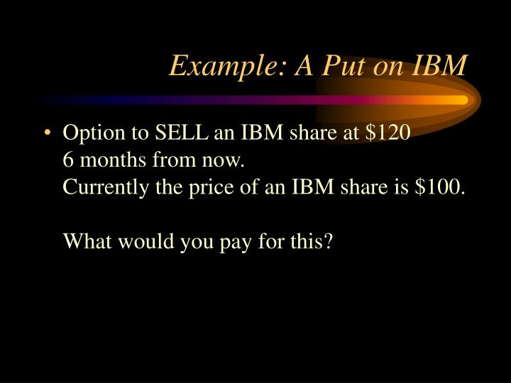 Example: A Put on IBM