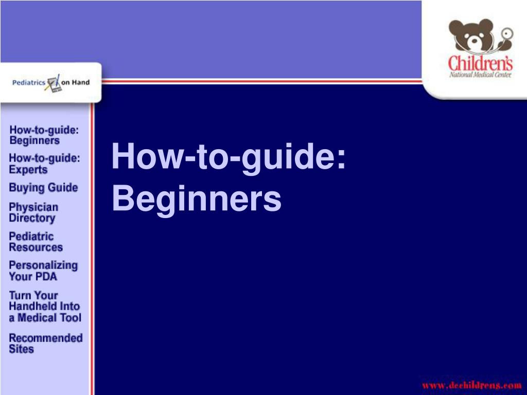 How-to-guide: Beginners