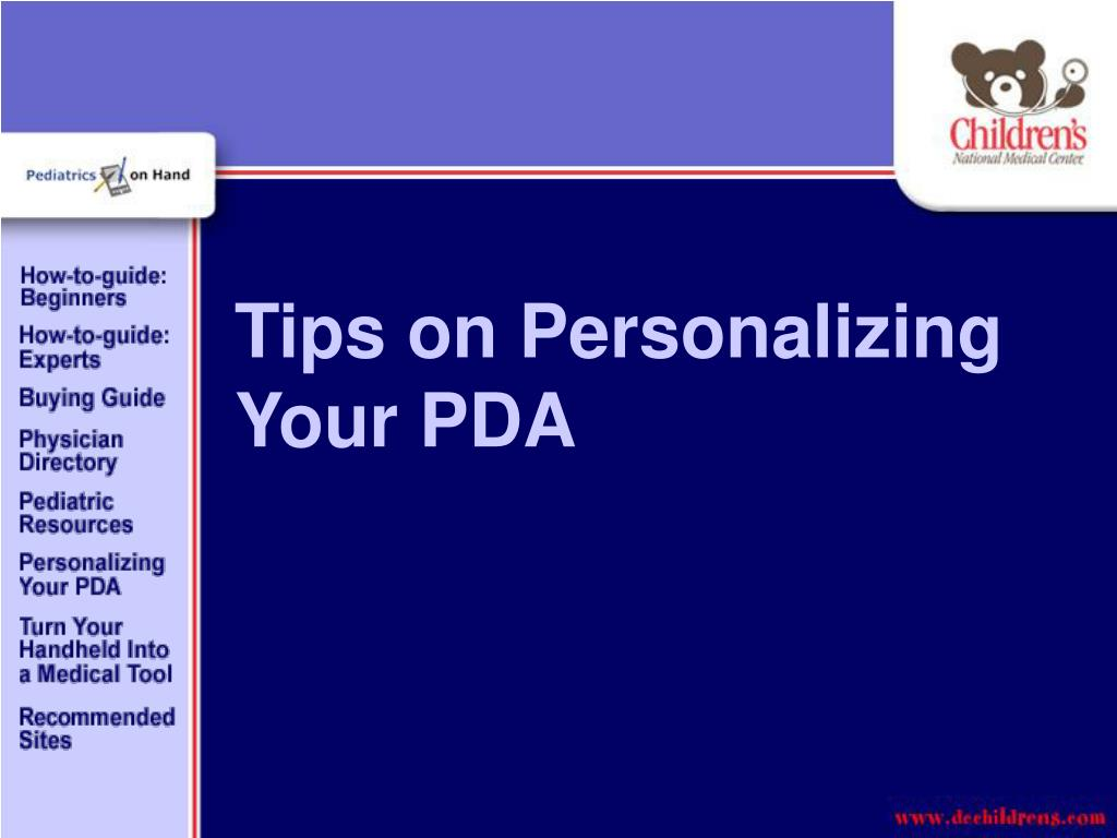 Tips on Personalizing Your PDA