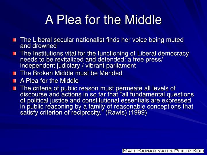 A Plea for the Middle