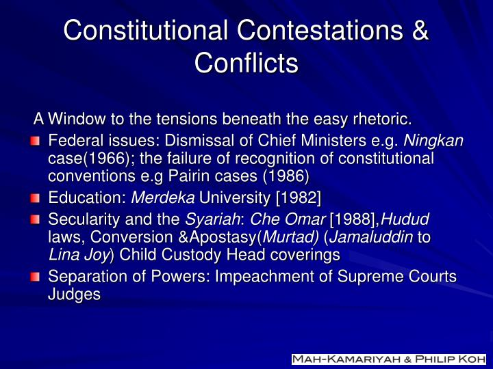 Constitutional Contestations & Conflicts