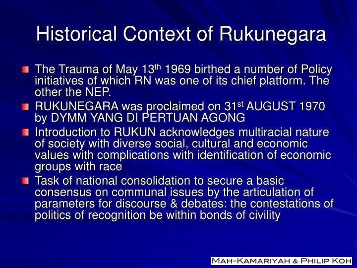 Historical Context of Rukunegara