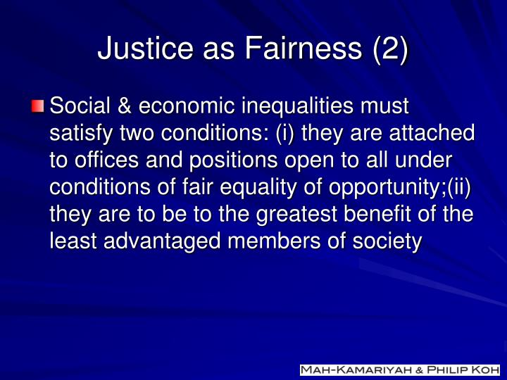 Justice as Fairness (2)