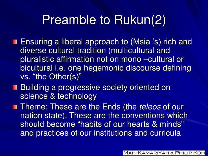Preamble to Rukun(2)