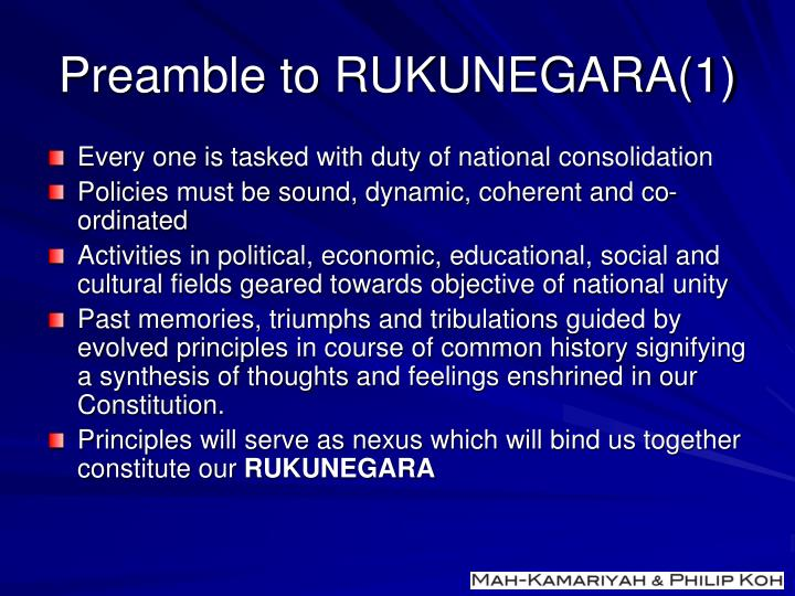 Preamble to RUKUNEGARA(1)