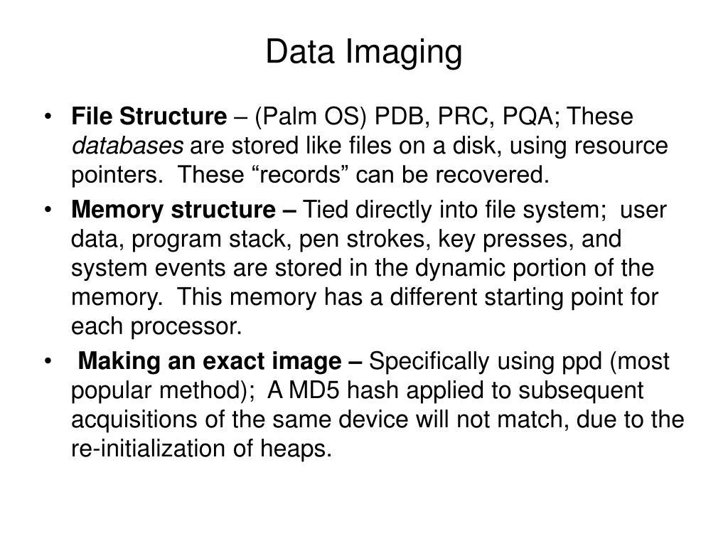 Data Imaging