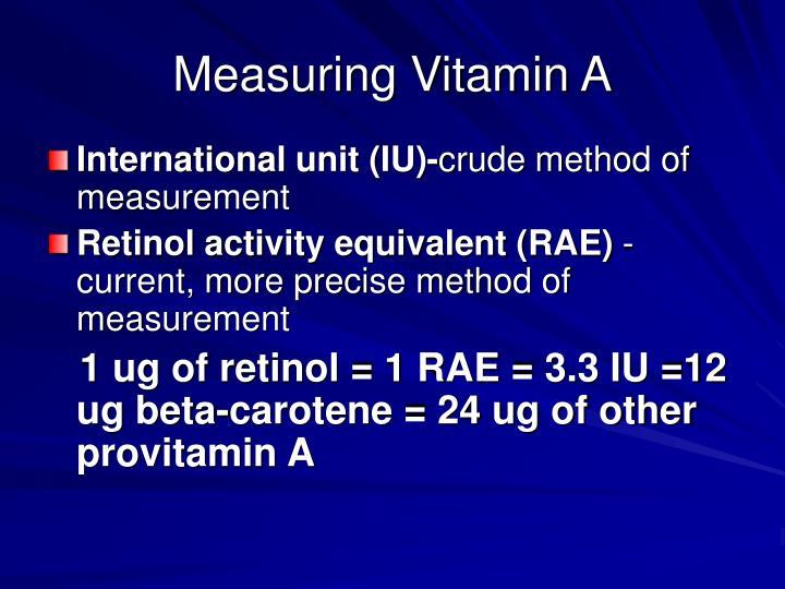 Measuring Vitamin A