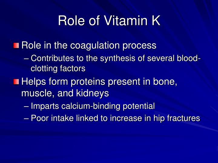 Role of Vitamin K