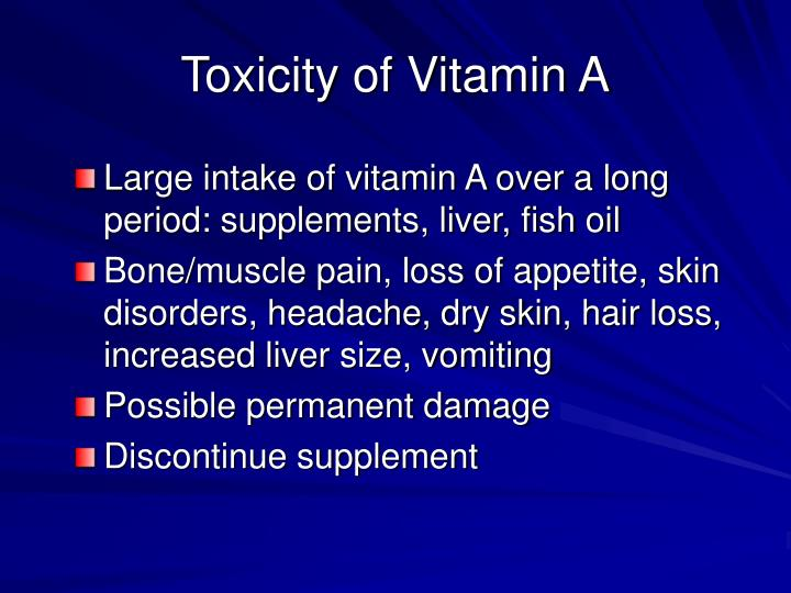 Toxicity of Vitamin A