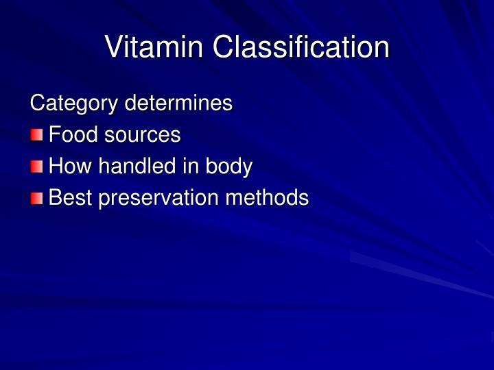 Vitamin Classification