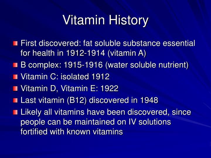 Vitamin History