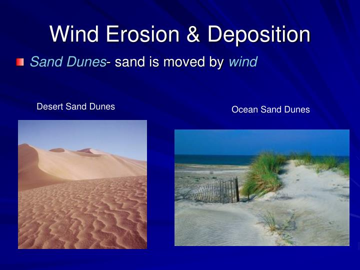 Wind Erosion & Deposition