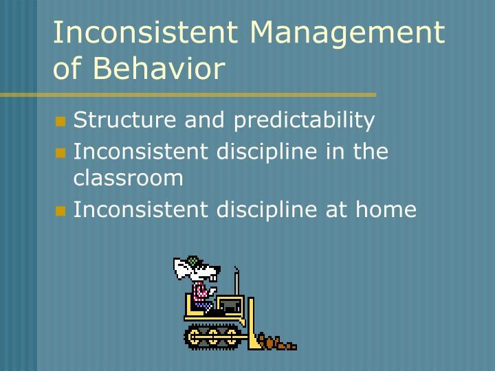 Inconsistent Management of Behavior