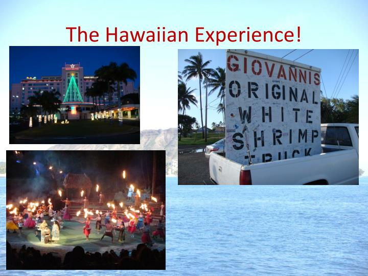 The Hawaiian Experience!