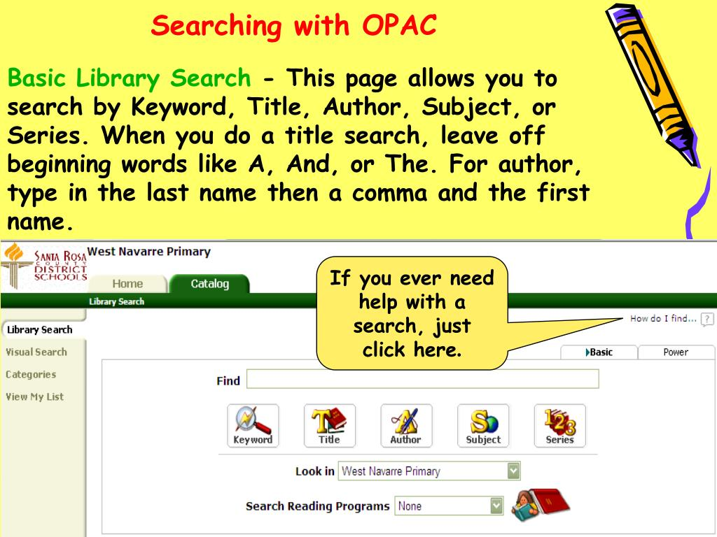 Searching with OPAC