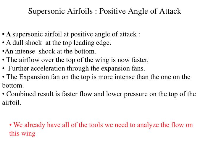 Supersonic Airfoils : Positive Angle of Attack