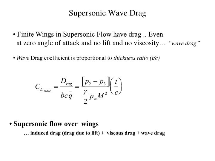 Supersonic Wave Drag