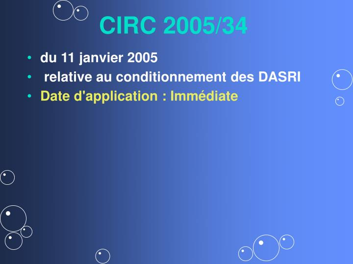 CIRC 2005/34
