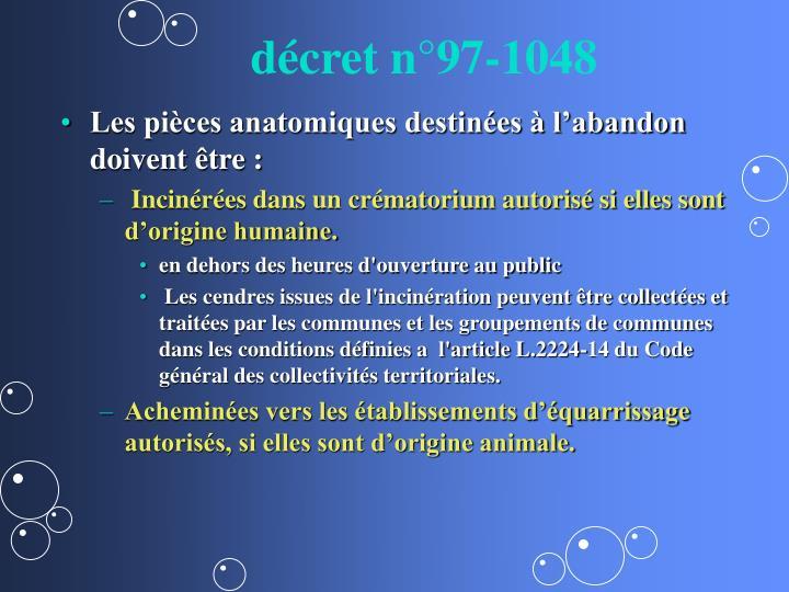 décret n°97-1048