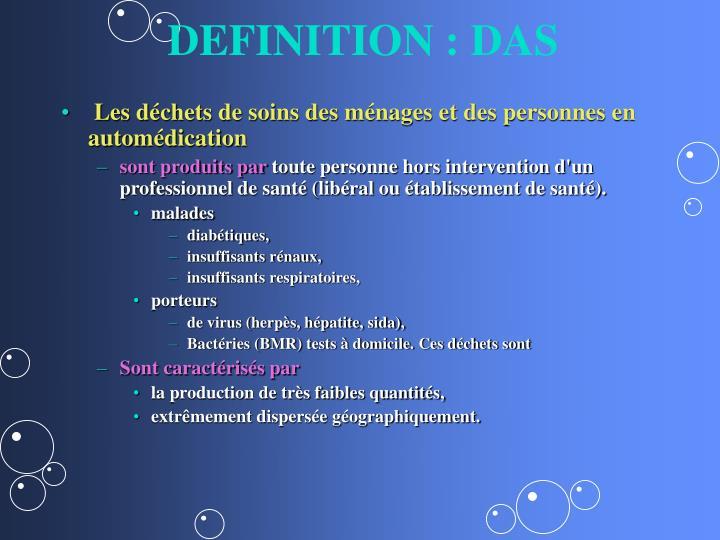 DEFINITION : DAS