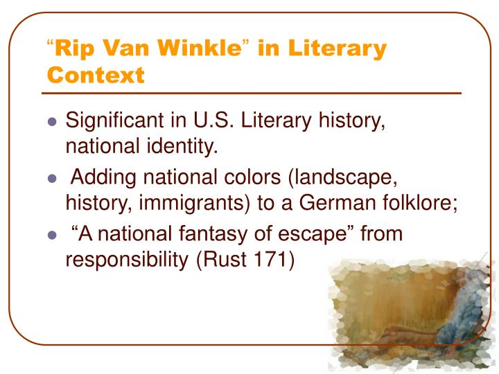 essay story of rip van winkle Free rip van winkle papers, essays, and research papers.