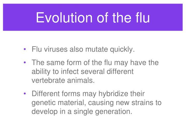 Evolution of the flu
