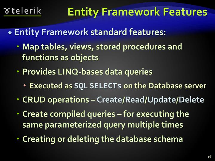 Entity Framework Features